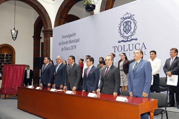 Se promulga Bando Municipal de Toluca 2019