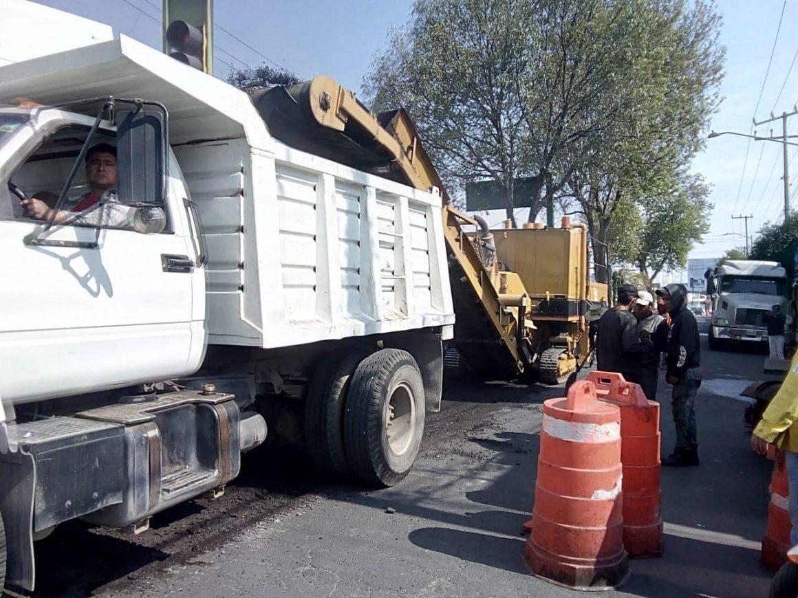 Avanza programa de repavimentación de calles en Toluca