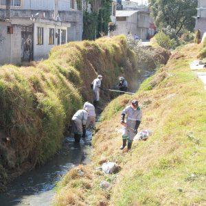 Limpian autoridades cauce del Arroyo Cano para evitar inundaciones