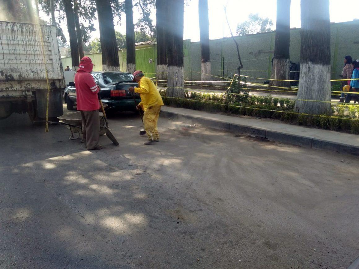 Se realizan trabajos de mantenimiento en parques, jardines y camellones de Toluca