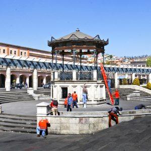 Continúa recuperación y embellecimiento de espacios públicos de Toluca