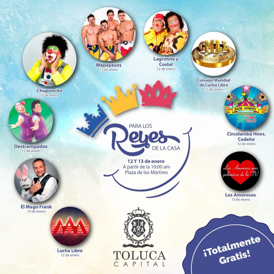 Prepara Toluca grandes sorpresas para celebrar a los Reyes de la Casa
