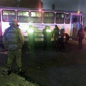 Permanentes operativos de seguridad al transporte público en Toluca