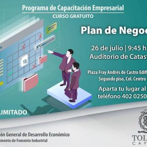 """Invita Toluca al curso gratuito """"Plan de Negocios"""" para PyMEs"""