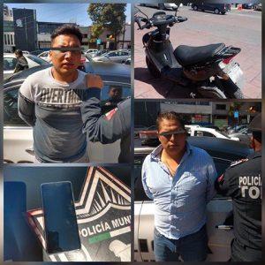 Detiene Policía de Toluca a dos por presunto robo en el Centro Histórico