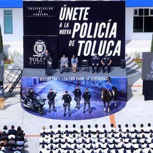 Lanzan convocatoria Únete a la Nueva Policía de Toluca
