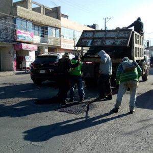 Se intensifica bacheo en múltiples puntos de Toluca Capital