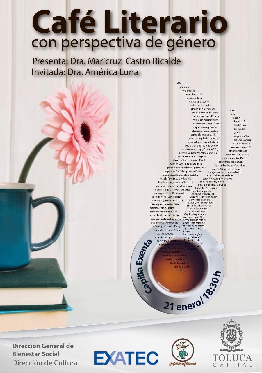Invita Toluca a Café Literario con Perspectiva de Género