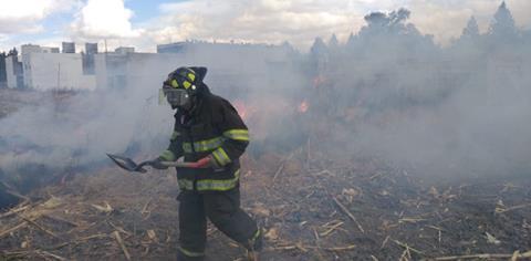 Sofocan Bomberos de Toluca 137 incendios en pastizales