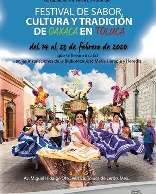 Chicos y grandes disfrutarán del Festival de Sabor, Cultura y Tradición de Oaxaca en Toluca