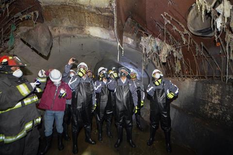Realiza Juan Rodolfo recorrido de supervisión por bóveda del Río Verdiguel