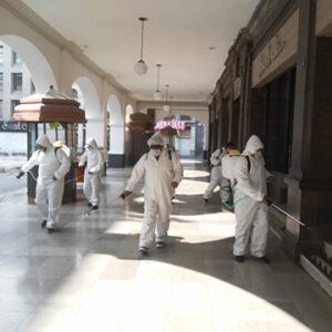 Continúa Toluca con labores de sanitización en espacios públicos