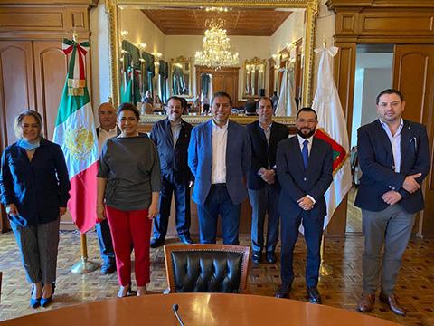 Reunión de apoyo y coordinación con los líderes del comercio de Toluca