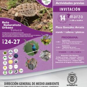 Invita Toluca a las actividades previas al Reto Naturalista 2020