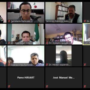 Juan Rodolfo se reúne a través de videoconferencia con directores de hospitales de Toluca