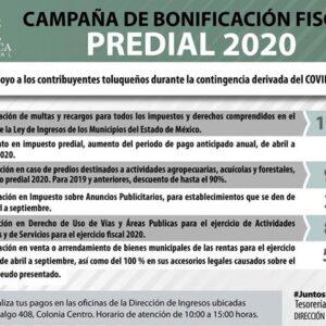 Continúa en Toluca campaña de bonificación fiscal por contingencia