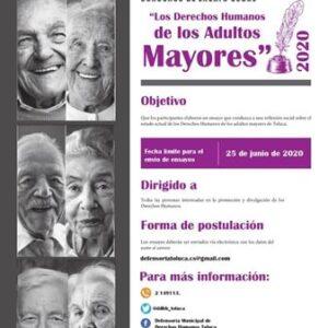"""Continúa abierto concurso de ensayo """"Los Derechos Humanos de los adultos mayores"""""""
