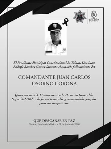 Coronavirus cobra la vida de un policía de Toluca