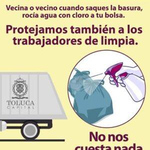 Exhorta Toluca a separar los residuos sanitarios desde los hogares