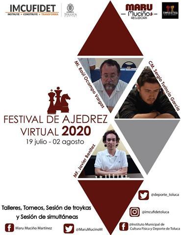Invitan IMCUFUDET y 7ª regiduría al Festival de Ajedrez Virtual 2020