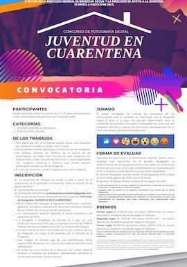 Invita Toluca a Concurso de Fotografía Digital Juventud en Cuarentena