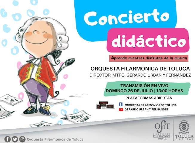 Invita OFiT a disfrutar de la música, a través de Concierto Didáctico