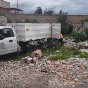 Retiran escombro y residuos sólidos de la colonia Ferrocarriles Nacionales