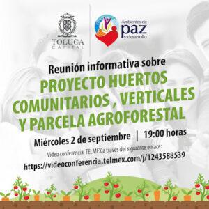 Impulsa Toluca el cultivo de Huertos Comunitarios
