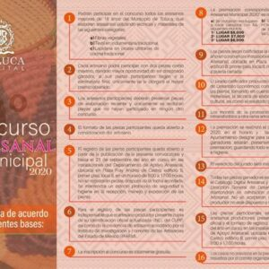 Convoca Toluca a 9º Concurso Artesanal Municipal