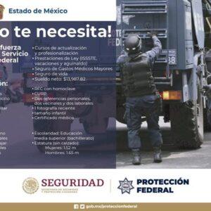 Invita Toluca a unirse a la fuerza como Policía del Servicio de Protección Federal