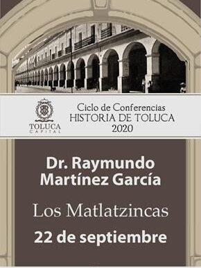 Se retoma Ciclo de Conferencias Historia de Toluca 2020 de forma virtual