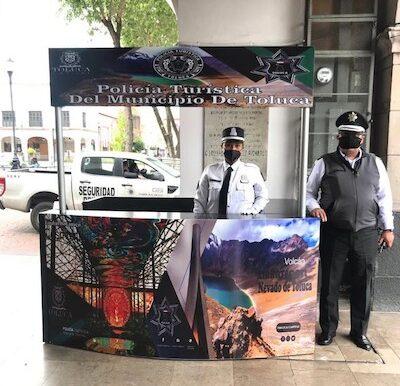 Brinda Policía Turística de Toluca protección y seguridad a los visitantes
