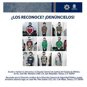 Acción coordinada en Toluca permite detención de banda delictiva