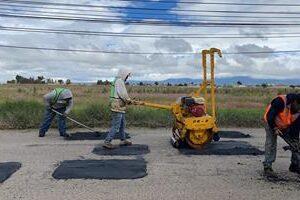 Permiten trabajos de bacheo mejorar índices de movilidad en Toluca