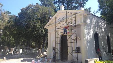 Remozan autoridades de Toluca capilla del Panteón General La Soledad