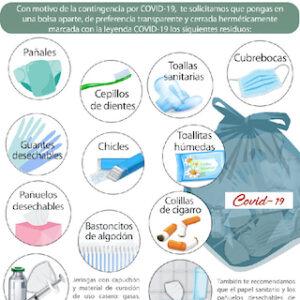 Exhortan autoridades de Toluca a implementar el correcto manejo de residuos por COVID-19