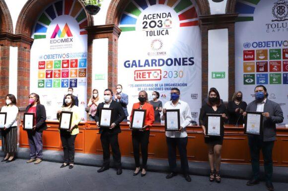 Entrega Toluca galardones a los mejores proyectos alineados a la Agenda 2030
