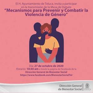 Invita Toluca a debate sobre mecanismos contra la violencia de género