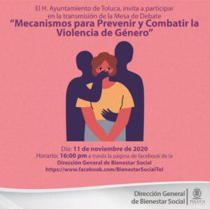 """Organiza Toluca mesa de debate """"Mecanismos para prevenir y combatir la violencia de género"""""""