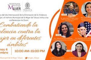 Invita Toluca a ciclo de conferencias para combatir la violencia contra la mujer