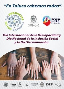 """Por una inclusión social plena, """"En Toluca cabemos todos"""""""
