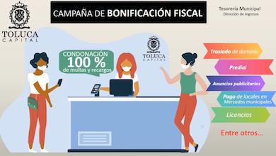 Continúa en Toluca campaña de descuentos y bonificación fiscal 2020