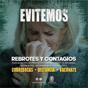 Exhorta Toluca a cuidar nuestra salud con el uso correcto del cubrebocas
