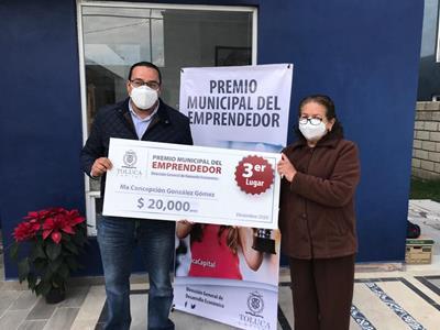 Reconoce Toluca a ganadores del Premio Municipal del Emprendedor 2020