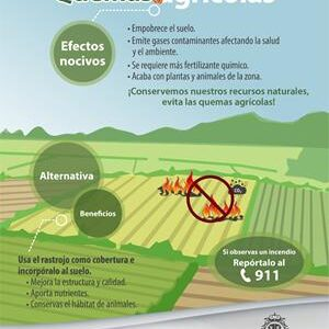 Autoridades de Toluca llaman a agricultores, dueños de terrenos forestales y población a evitar quemas agropecuarias y de pastizales