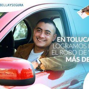 Estrategia de seguridad en Toluca da resultados, disminuye el robo de vehículos