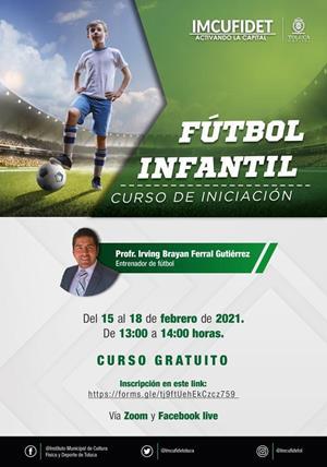Convoca IMCUFIDET a curso de iniciación Fútbol Infantil
