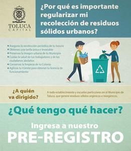 Invita Toluca a pequeñas y medianas empresas a regularizar su recolección de residuos sólidos
