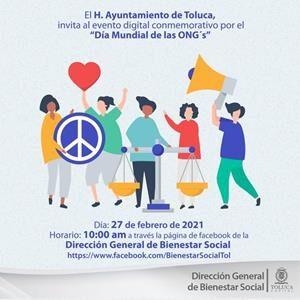 """Prepara Toluca la Expo Digital """"Día Mundial de las ONG´s"""""""