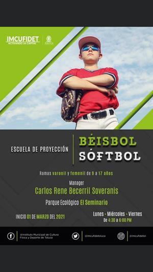 Invita IMCUFIDET a formar parte de la Escuela de Proyección de Béisbol y Sóftbol
